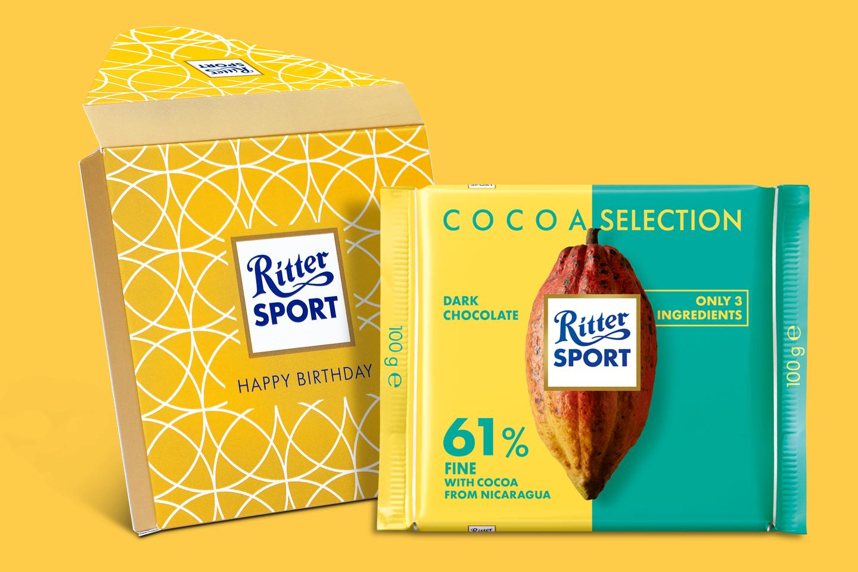 61% Nicaragua Origin Gift Wrapped 100g Chocolate Bar