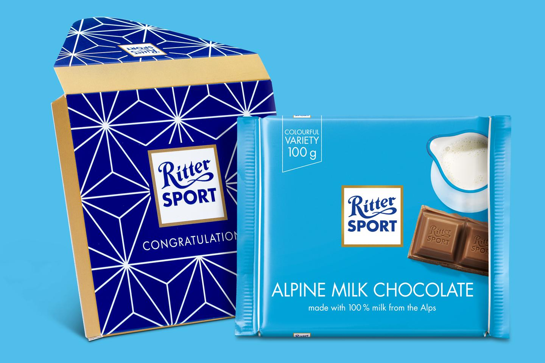 Alpine Milk Gift Wrapped 100g Chocolate Bar