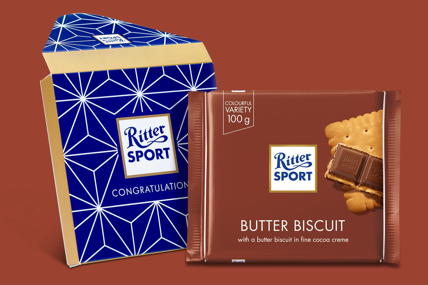 Butter Biscuit Gift Wrapped 100g Chocolate Bar