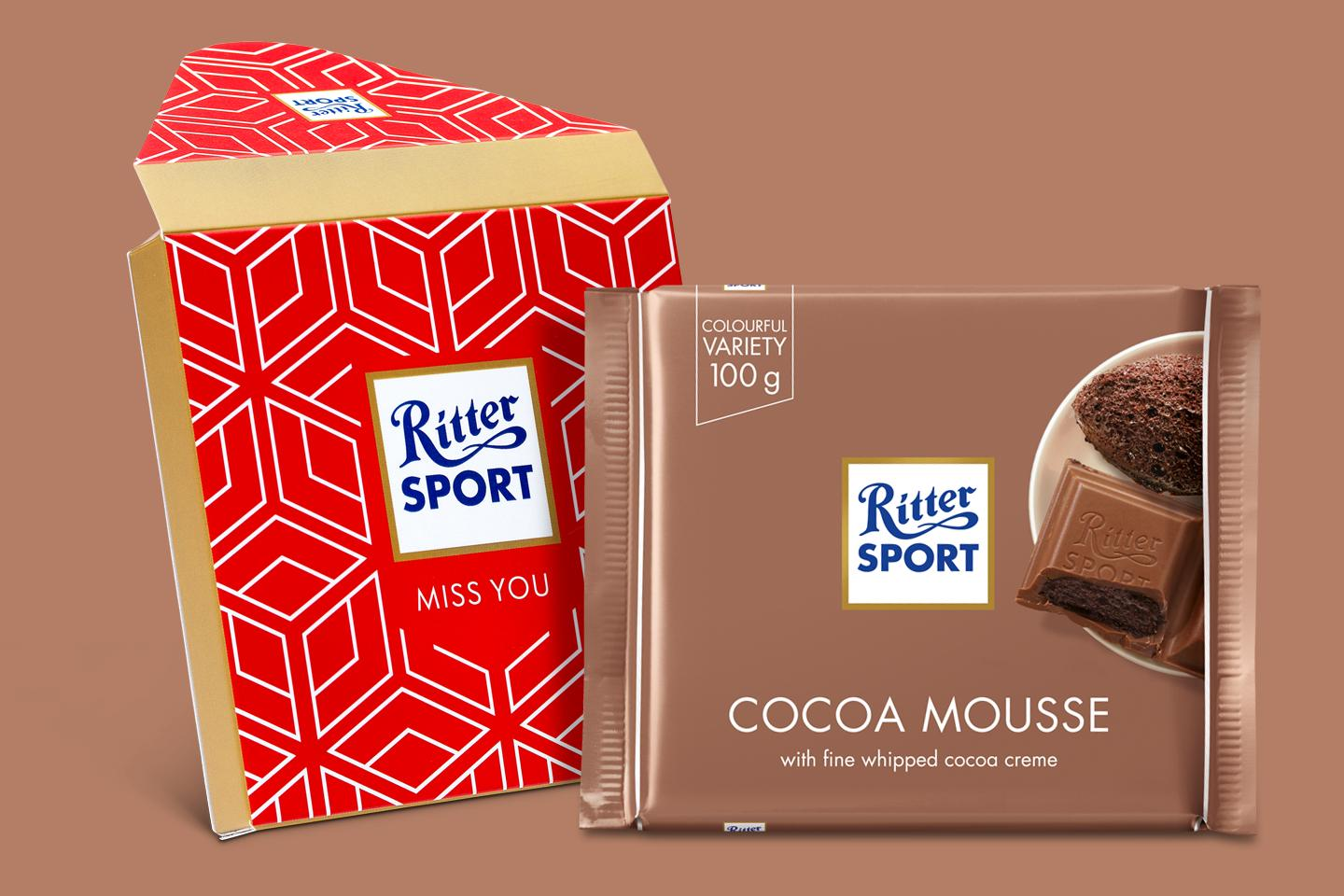 Cocoa Mousse Gift Wrapped 100g Chocolate Bar