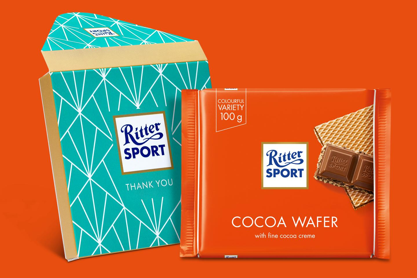 Cocoa Wafer Gift Wrapped 100g Chocolate Bar