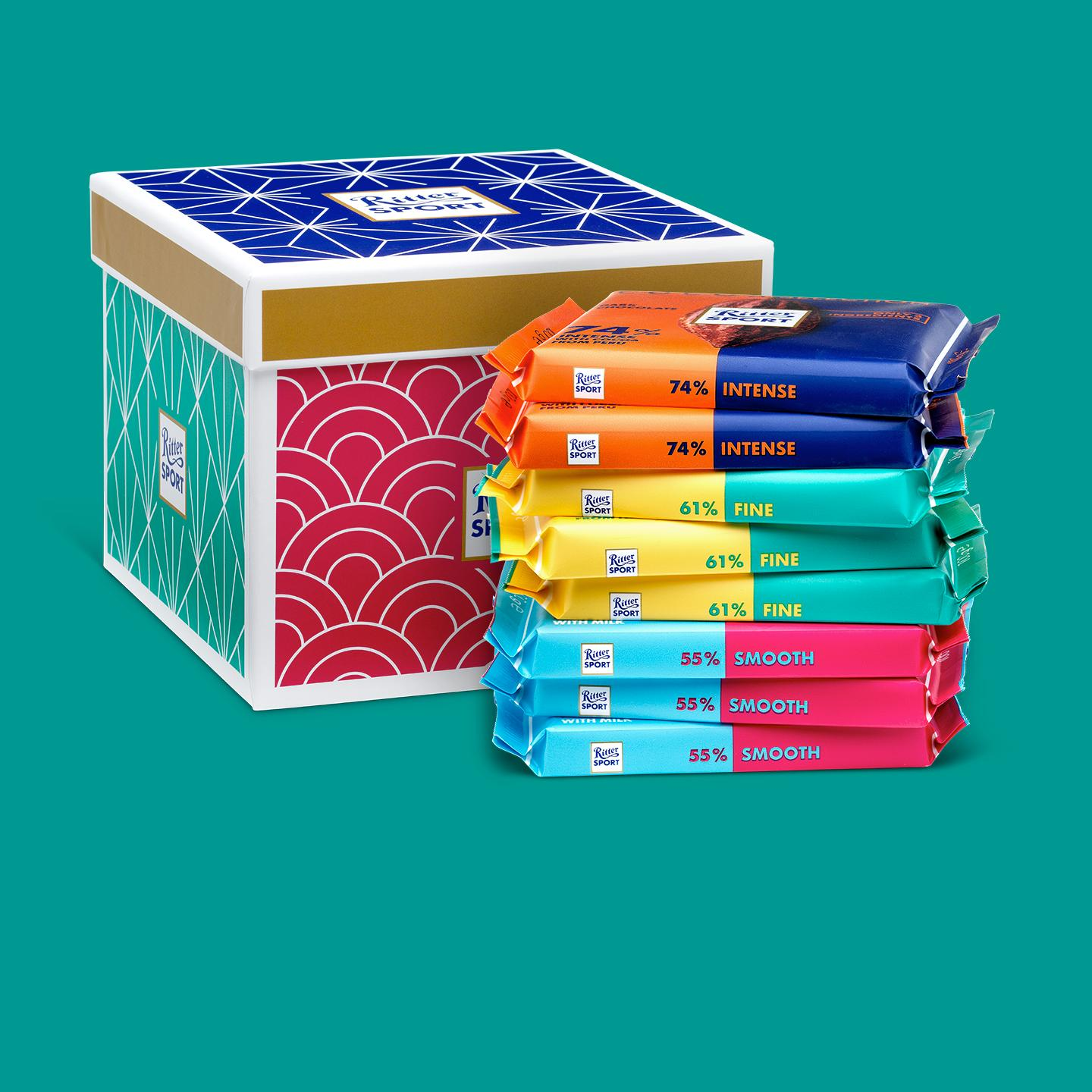 Dark chocolate selection gift box from Ritter Sport