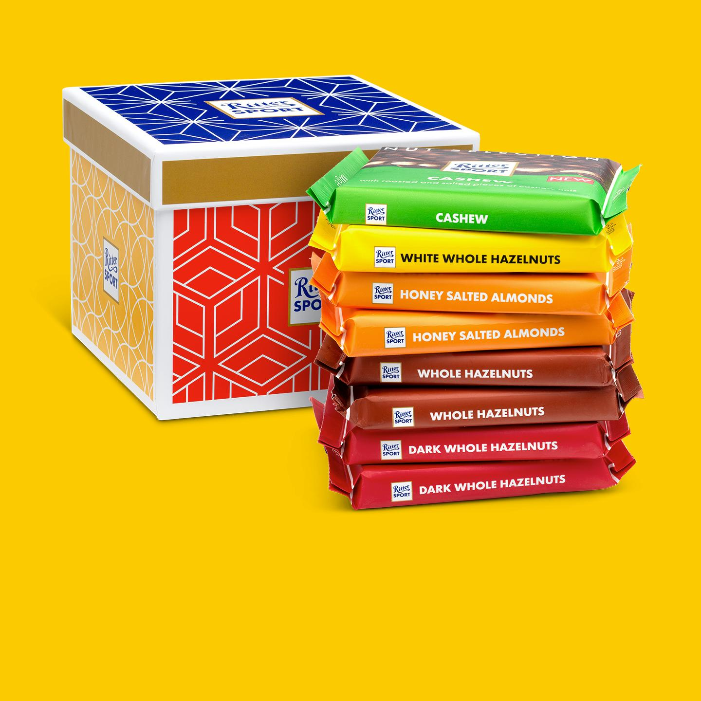 Nut slection gift box from Ritter Sport