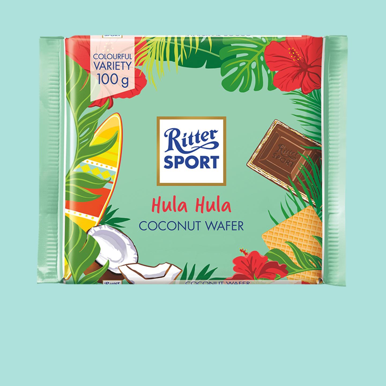 Hula Hila Coconut Wafer 100g Ritter Sport