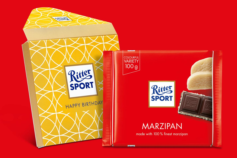 Marzipan Gift Wrapped 100g Chocolate Bar