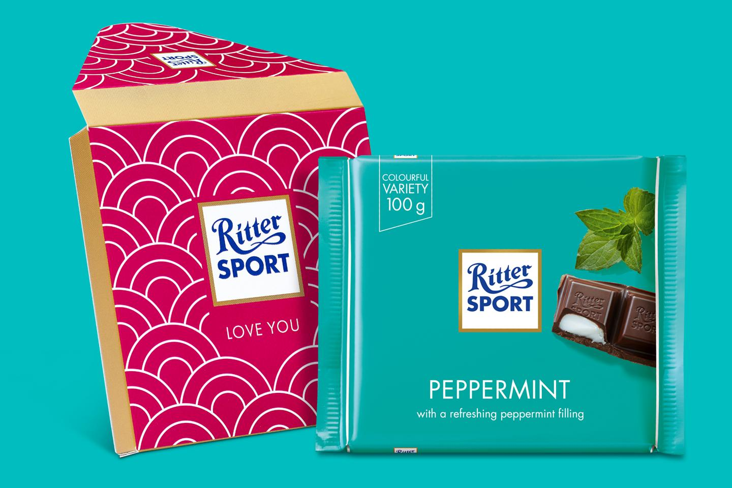 Peppermint Gift Wrapped 100g Chocolate Bar