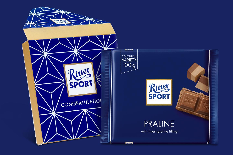 Praline Gift Wrapped 100g Chocolate Bar