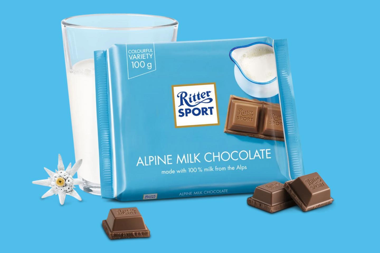 Alpine Milk Chocolate 100g Ritter Sport