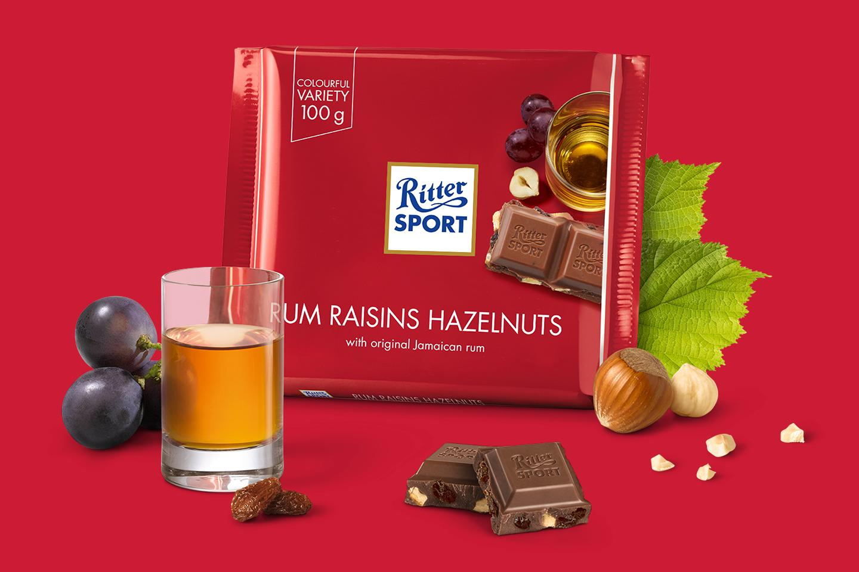 Rum Raisins Hazelnuts 100g Ritter Sport