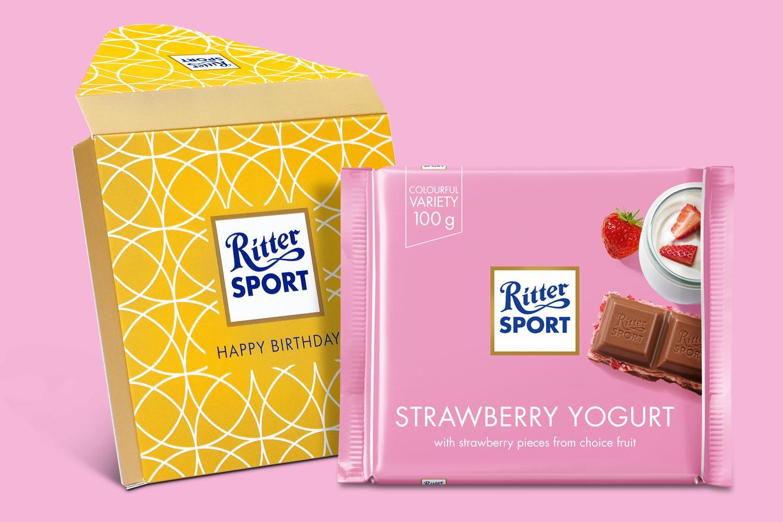 Stawberry Yogurt Gift Wrapped 100g Chocolate Bar