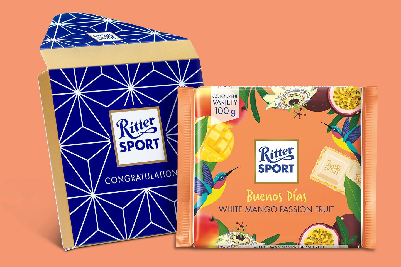 Buenos Dias White Mango Gift Wrapped 100g Chocolate Bar
