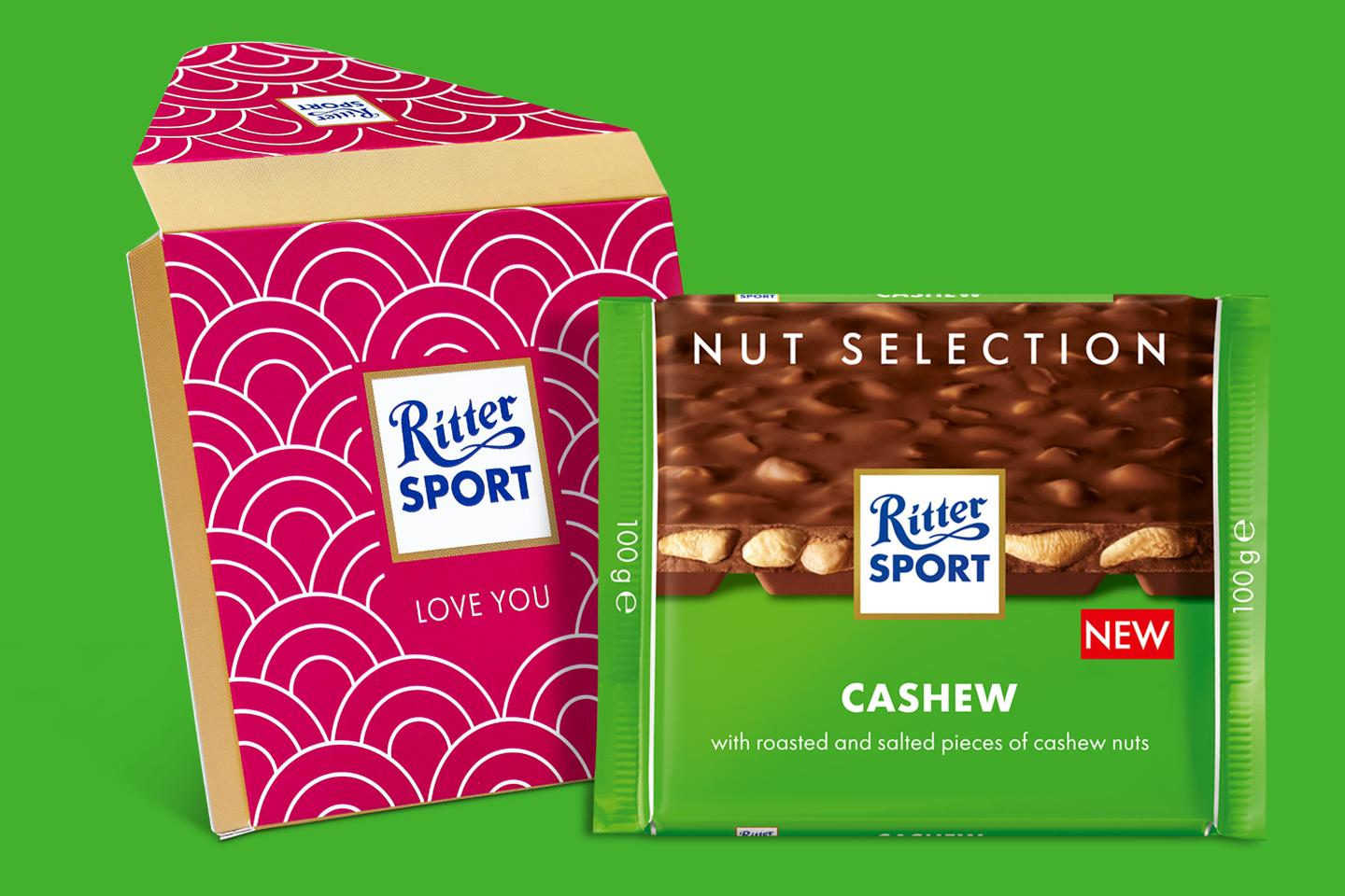 Cashew Nut Gift Wrapped 100g Chocolate Bar