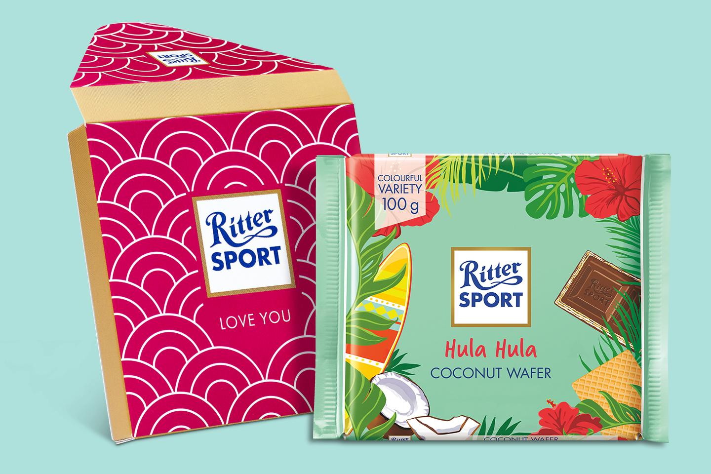 Hula Hula Coconut Wafer Gift Wrapped 100g Chocolate Bar