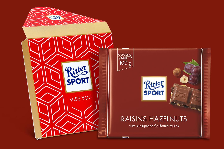 Raisins Hazelnuts Gift Wrapped 100g Chocolate Bar