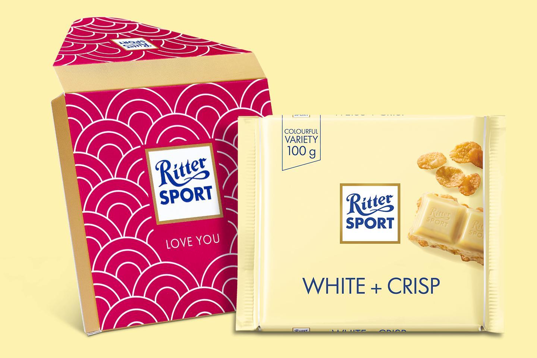 White + Crisp Gift Wrapped 100g Chocolate Bar